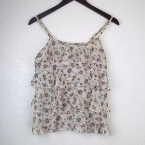 Forever 21 Floral Layered Tank Top Size S